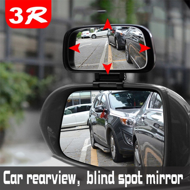 Square Wide Angle Side Rear view Mirror  Car rearview blind spot mirror Real glass Suitable for all kinds of rearview mirrors