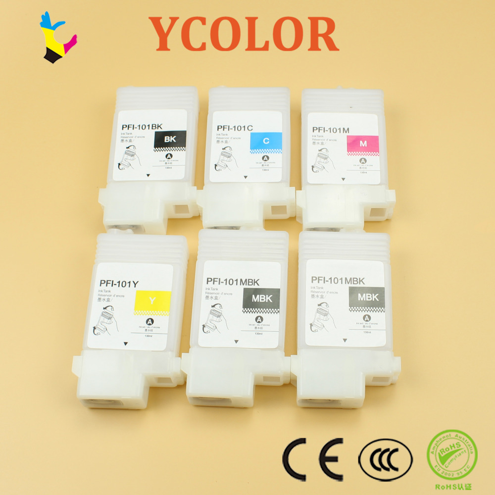 130ml PFI 102 refillable ink cartridges for Canon IPF605 650 655 750 755 605L ink cartridgewith