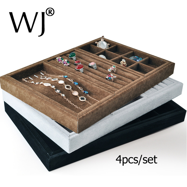 Aliexpresscom Buy Wholesale 4pcsset Velvet Stackable Jewelry