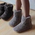 Новые Зимние Теплые Хлопка мягкой Обуви Скольжению Мягкое Дно Помещении Дома обувь Теплый Плюшевые Крытый Сапоги Для Мужчин И Женщин Полы обувь