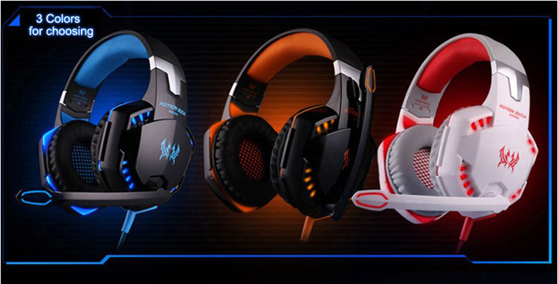 Best casque Computer Stereo Gaming Headphones Deep Bass Game Earphone Headset Gamer with Microphone Mic LED Light for PC Game  (4)