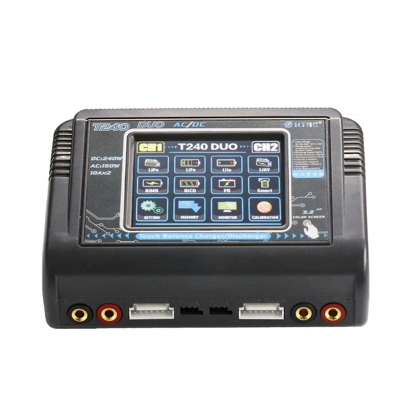 HTRC T240 DUO AC 150 W DC 240 W 10A écran tactile double canal batterie Balance chargeur chargeur pour RC jouets livraison gratuite
