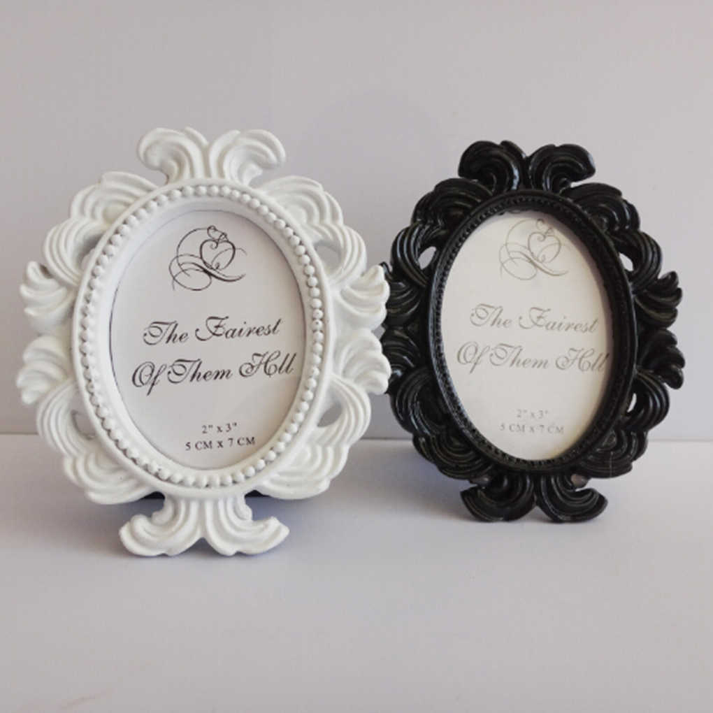 2019 Hot Floral Photo Frame Round Frame Picture Frame Holder Wedding Home Decor
