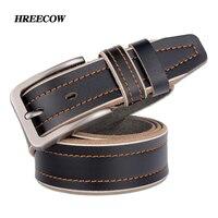 Genuine Leather Men Belt Luxury Designer Belt For Men High Quality Metal Buckle Jeans Belt Men