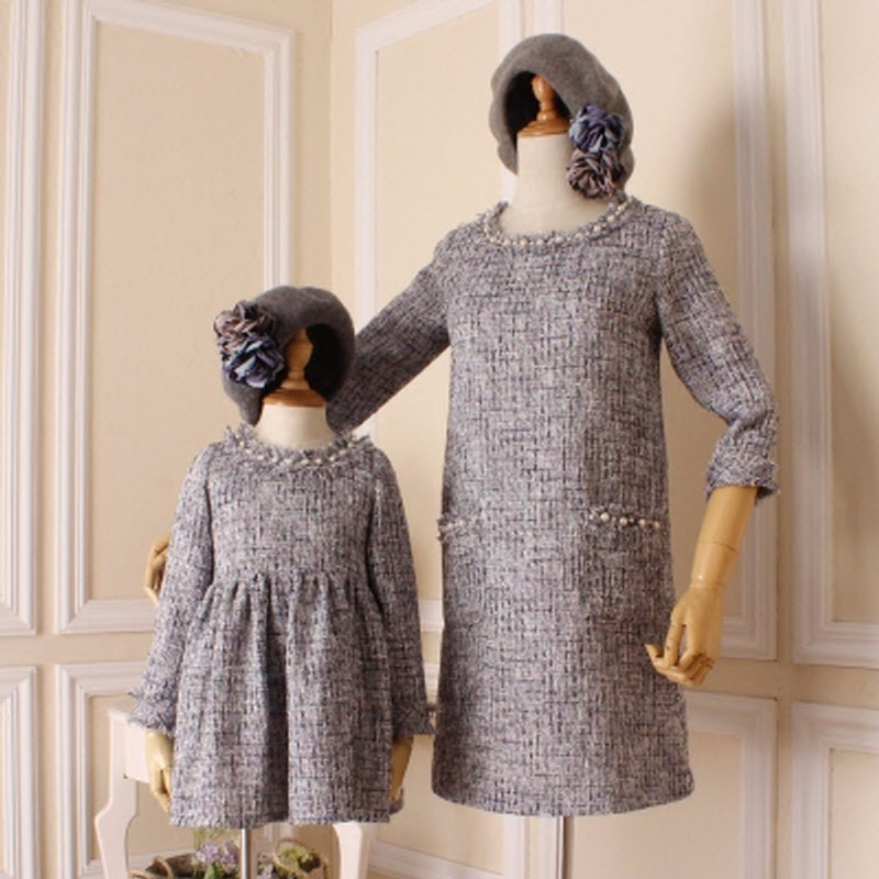 New mother daughter dresses family matching women girls kids clothes mommy and me vestiti mamma e figlia moeder dochter kleding