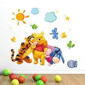 Image 5 - % Winnie the Pooh arkadaşlar duvar çıkartmaları çocuk odaları için zooyoo2006 dekoratif sticker adesivo de parede çıkarılabilir pvc duvar çıkartması