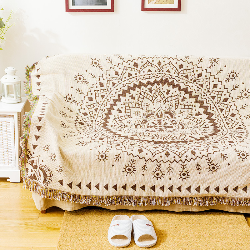 Blanket Sofa Cover: Coverlet On Bed Bohemian Cotton Throw Blanket Sofa TV