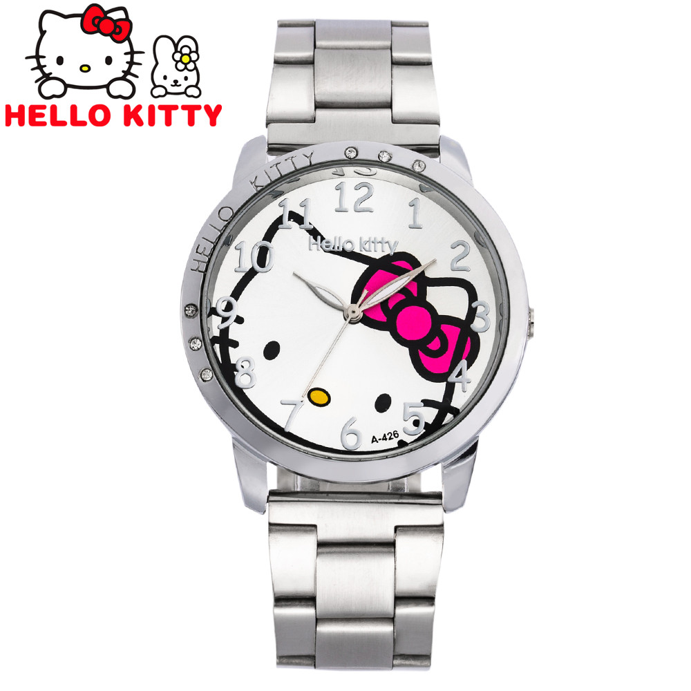 Cartoon Watches Women Quartz Watch Stainless Steel Rhinestone Watches Ladies Clock Reloj Mujer Hodinky Ceasuri