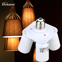Elinkume Lamp Base 4 In1 E26 E27 Base LED Bulb Holder 1 To 4 Lamp Base