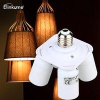 Elinkume Lamp Base 4 In1 E26 E27 Base LED Bulb Holder 1 To 4 Lamp Base