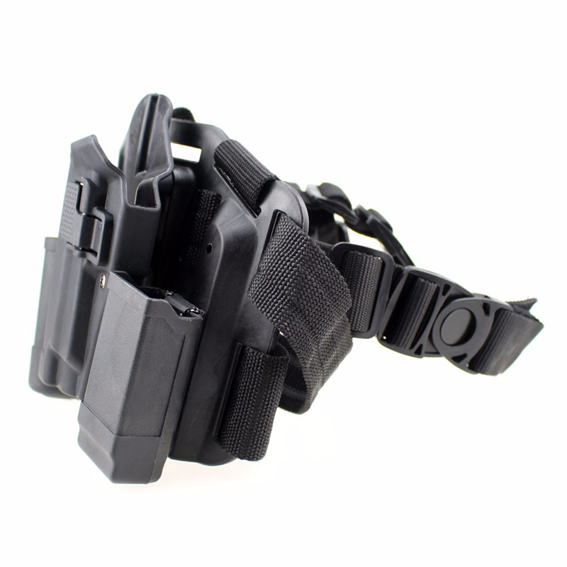 Image 2 - Sig Sauer P226 Gun Left / Right Hand Leg Holster w/ Magazine Flashlight Pouch Military Hunting Airsoft Air Gun Carry Holster-in Holsters from Sports & Entertainment