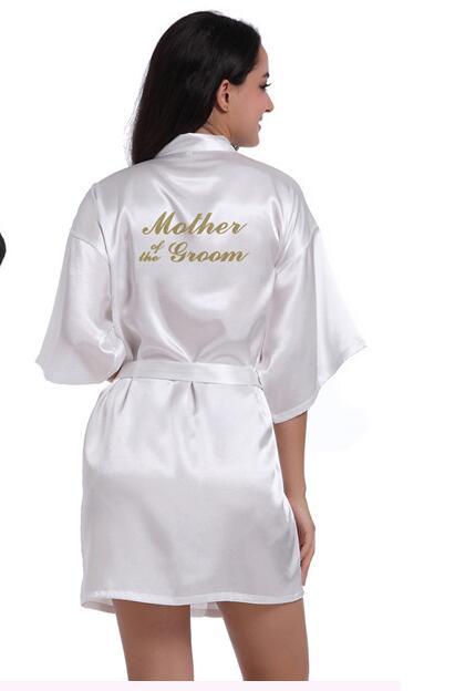 RB89 Rhinestone Letter Bride Robes Bridesmaids and Maid Of Honor Robes Sleepwear Nightwear Wedding Bathrobe Night dress Gow