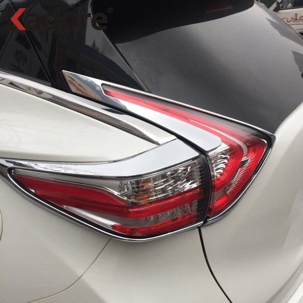 For Nissan Murano 2015 2016 2017 2018 ABS Chrome Rear Back Light Lamp Cover Trim Tail