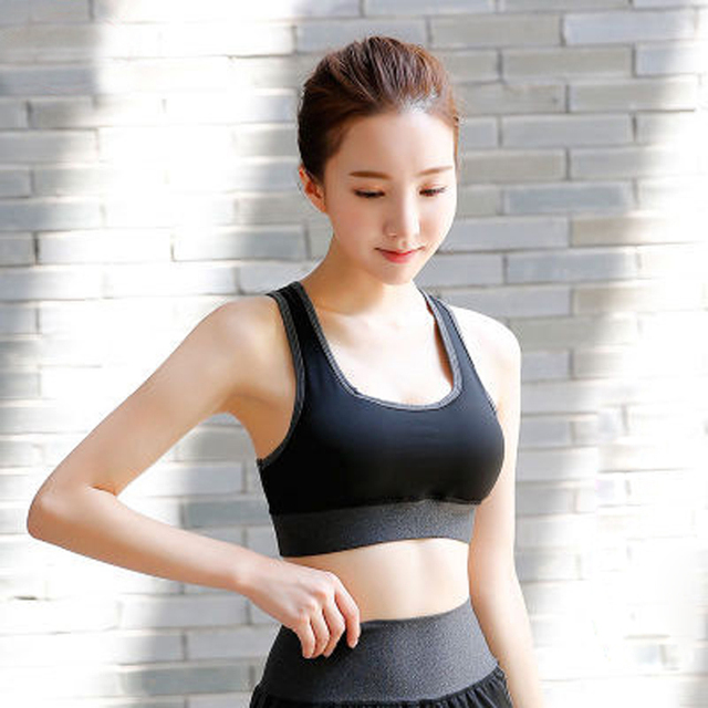 dd2d6c5b4a S M L XL XXL XXL Push Up Women Sport Sports Bra Top Fitness Yoga Cross Strap  Womens Gym Running Padded Athletic Vest Underwear