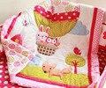 7 pcs bedding set bebê berço do bebê dos desenhos animados balão de ar quente berço berço bedding set cunas berço colcha folha pára saia da cama incluído