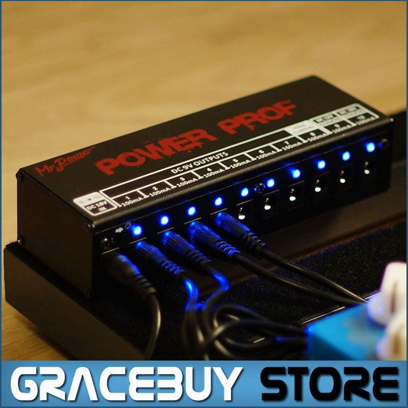 Gitarre Effektpedale Bordstromversorgung 10 Isolierte Ausgänge (8 Way DC 9 V & 1 Way DC 12 V & 1 Way 18 V) spannung Schutz Neue
