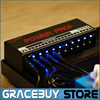 Guitar Effect Pedals Power Supply Ten Isolated Outputs 8 Way DC 9V 1 Way DC 12V