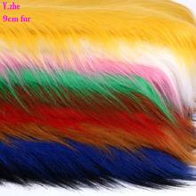 150x50cm1pc dobry 9cm długie futro królik tkanina sztuczne futro miękki pluszowy tkanina sztuczne futro materiał do szycia dekoracje dla domu Diy tkaniny futra tanie tanio Faux Futra faux rabbit fur faux rabbit fur fabric 150cm x 50cm about 0 35kg for 0 5 meter Barwione Odzieży Auto tapicerki