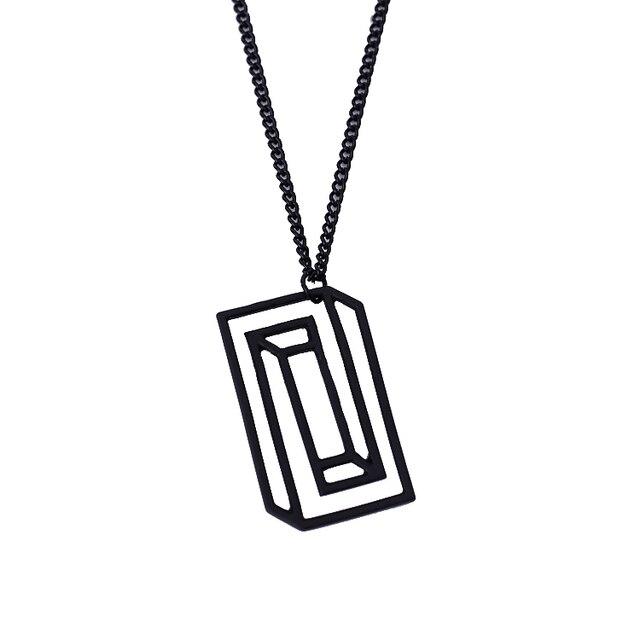 simple geometry alloy caffeine molecule necklace elegant serotonin