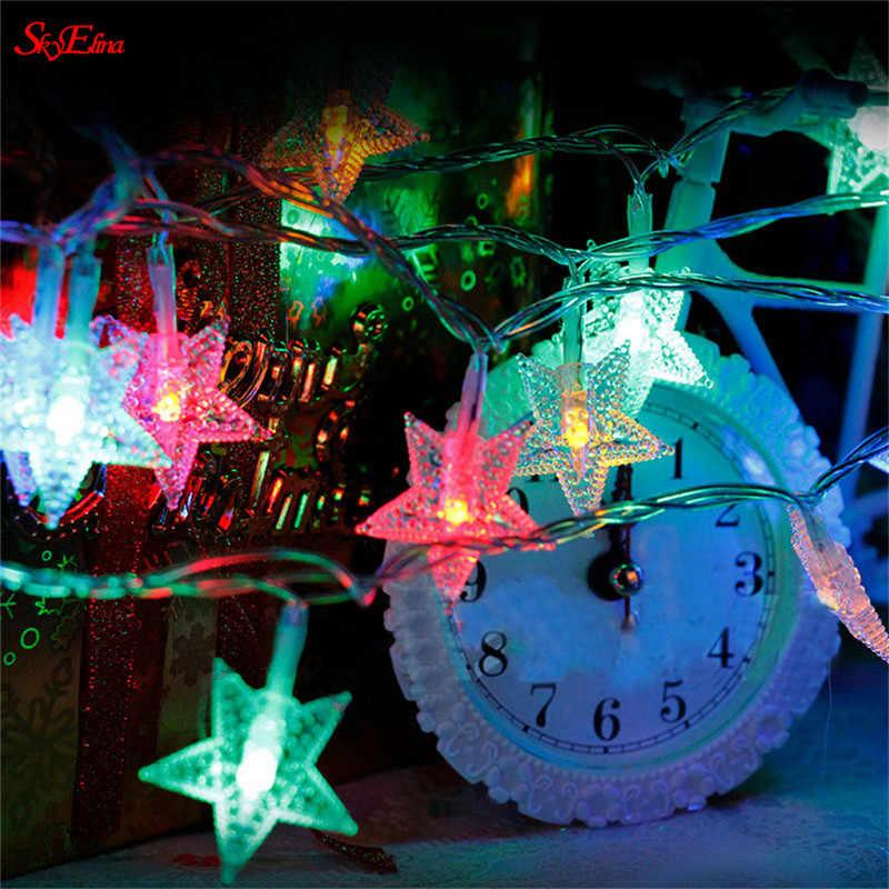 スカイエリナ 1.5/3/6 10m フェアリーストリングライトクリスマス led 結婚式のパーティーの妖精ライト花輪屋外カーテン庭の装飾 5Z
