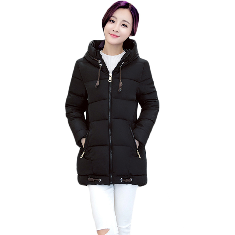 Fall Winter New Parka Women Padded Coat Female Casual Feminina Quilted Medium Long Jacket Adjustable Hat and Hem Outerwear XH827 30cm crazy toys batman figure 1 6th scale collectible joint move action figures real clothes free shipping