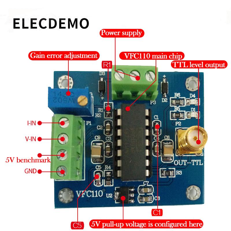 Image 3 - VFC110 Voltage to frequency module High speed voltage to frequency conversion module  internal 5V reference built in 4M output-in Demo Board Accessories from Computer & Office
