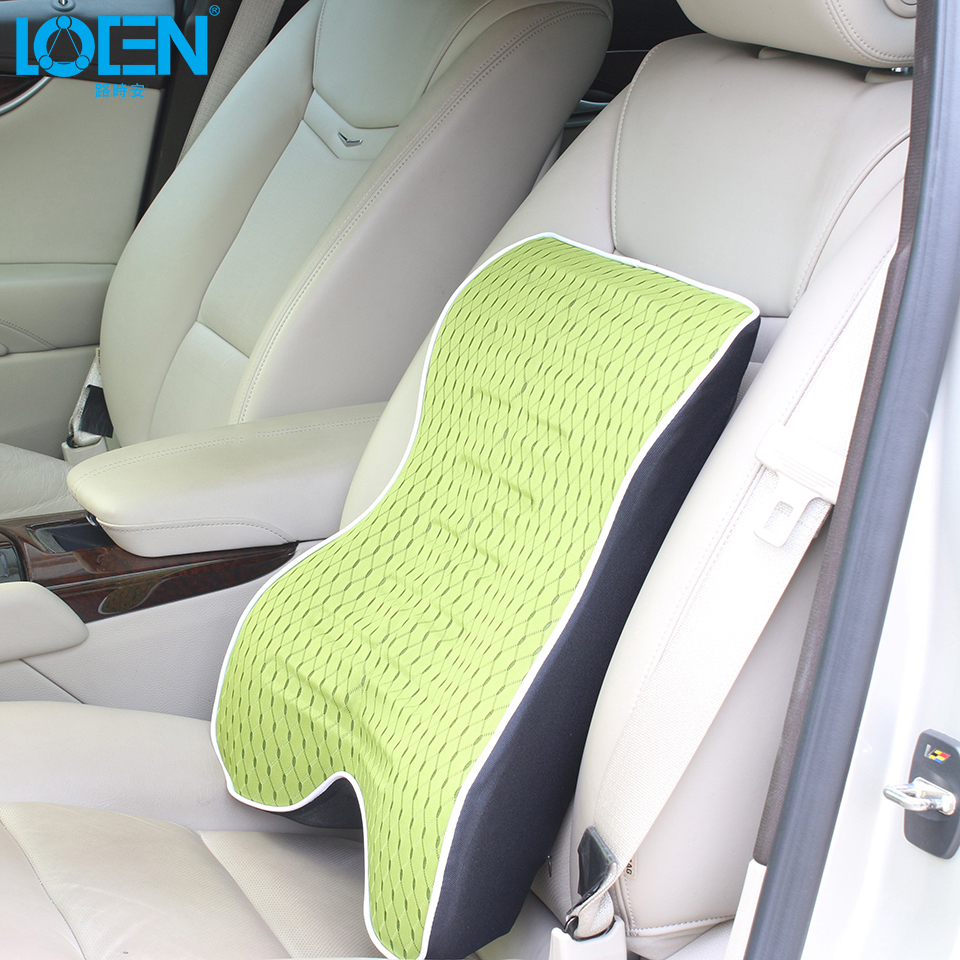 1 piece high grade memory foam car lumbar support back lumbar pillow cushion for driving travel