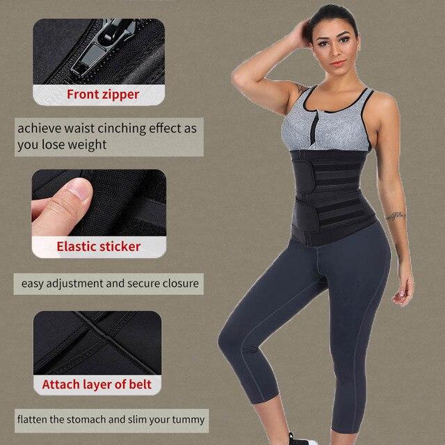 Neoprene Waist Trainer Body Shaper Slimming Wrap Belt Sauna Waist Trainer Cincher Corset Fitness Sweat Belt Girdle Shapewear 3