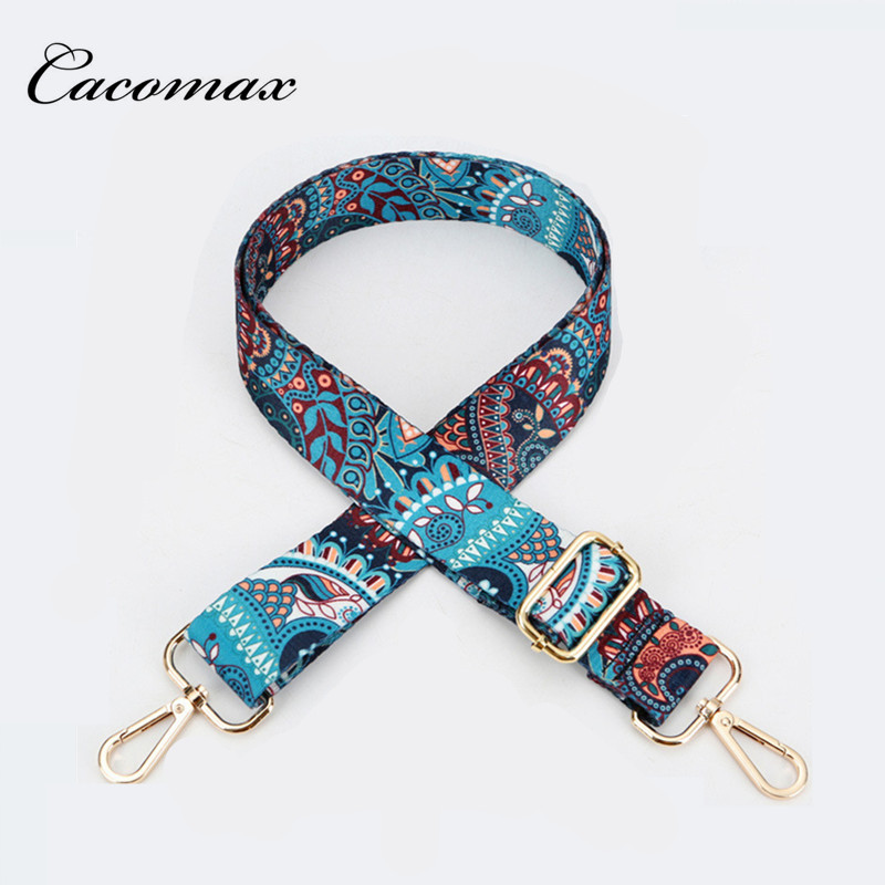 2018 Nylon Colored Bag Straps Rainbow Belt Accessories Women Adjustable Shoulder Hanger Handbag Strap Decoration Handle Ornament