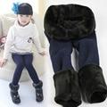 New Winter Fur Girls Leggings Children Pants KIds Thick Warm Elastic Waist Colorful Cotton Leggings Girl Pants