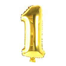 32 inch Gold Silver Number Balloon Aluminum Foil Helium Birthday Wedding Party Decoration Celebration Supplies