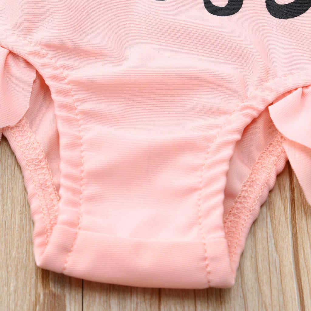 الصيف الاطفال طفل ملابس سباحة للفتيات الكشكشة إلكتروني طباعة ملابس السباحة طفلة السباحة ثوب سباحة مثير الفطر Ruched طفل ثوب السباحة