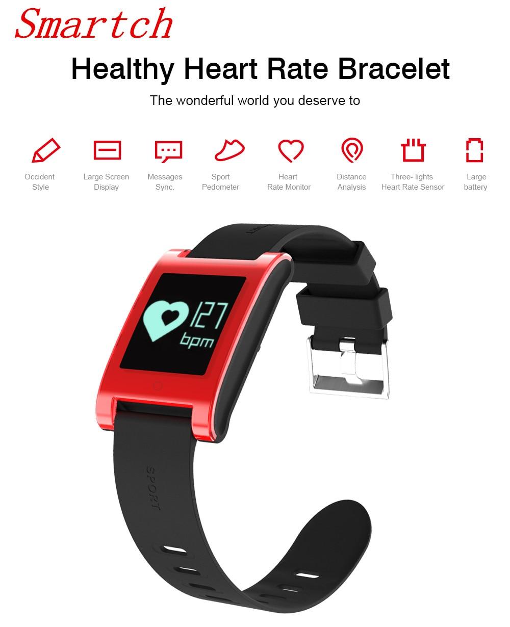 Smartch Smart Bracelet Bracelets Health DM68 Pedometer Pulsera Actividad Fitness Pulse Monitor Activity Blood Pressure Tracker