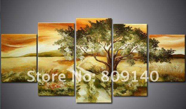 free shipping African Landscape oil painting canvas Road Art high ...