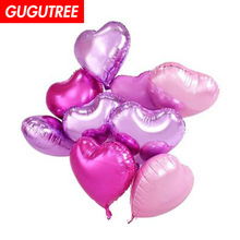 Decorate 18inch 10 pieces heart foil balloon wedding event christmas halloween festival birthday party PD-118