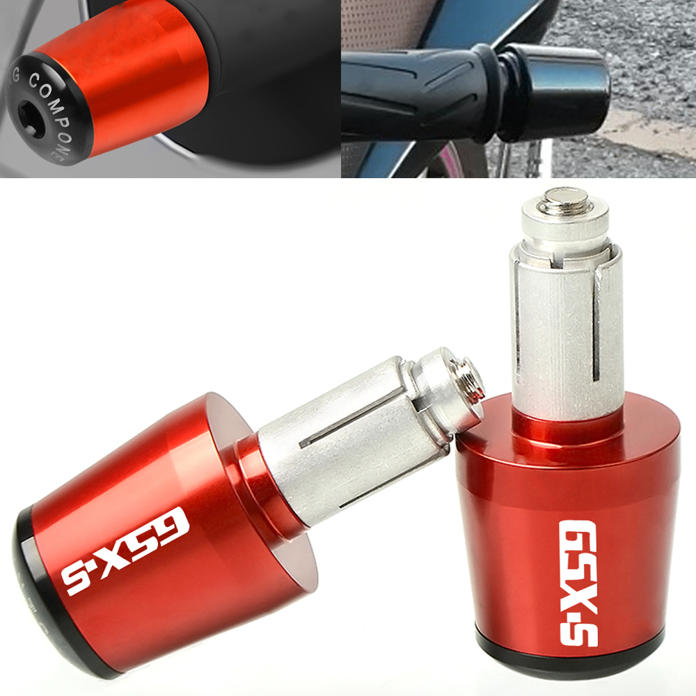 22mm Motorcycle Aluminum Handlebar Gear Balanced Plug Slider Handle Bar End Grips Cap For Suzuki GSX-S GSXS 600 750 1000 1300