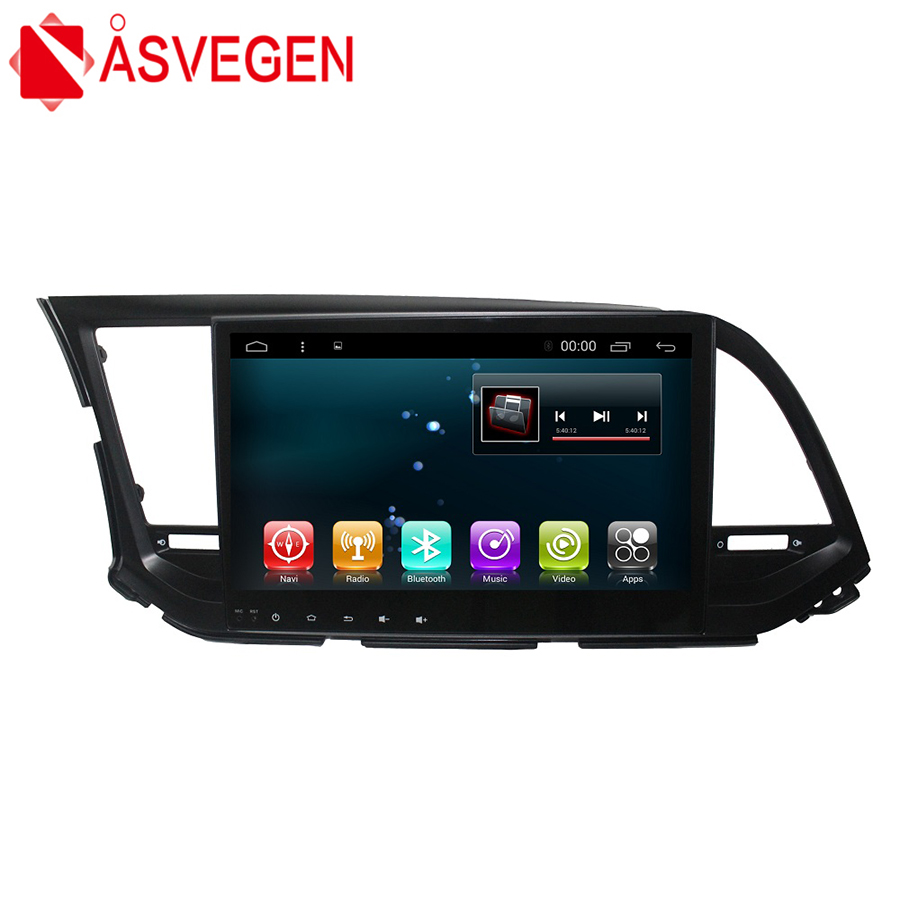 Asvegen Android 7.1 2 din 10.1 inch Car Bluetooth WIFI Autoradio Multimedia GPS Navigation DVD Player For Hyundai ELANTRA 2016