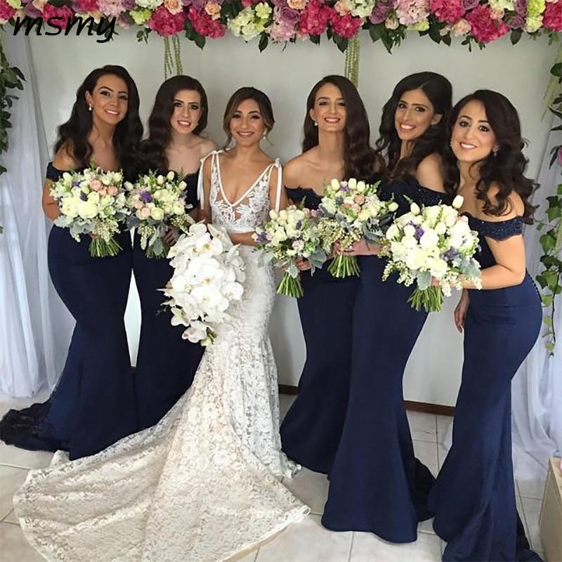 Navy Blue   Bridesmaid     Dresses   2016 Elegant Sweetheart Strapless Long   Bridesmaid     Dresses   Formal   Dresses