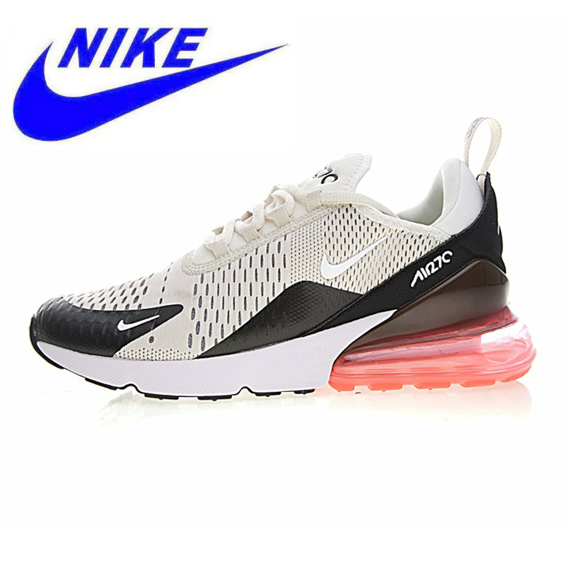 1849c21d86 Original NIKE AIR MAX 270 Men's Running Shoes ,Sports Outdoor Sneakers Shoes,Grey  & Red,Breathable Abrasion Resistant AH8050 002