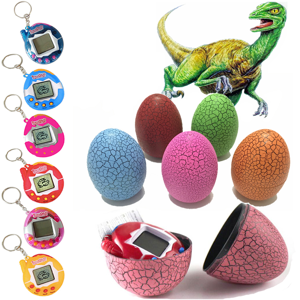 2017 Tamagochi Electronic Pets Toys Dinosaur Eggs 90S Nostalgic 49 Pets in One Virtual Cyber Tamagtchi Christmas Easter Gift
