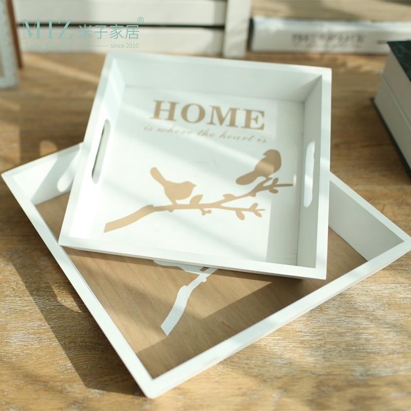 Miz1 stuk houten dienblad voor thuis opslag Creatieve creatieve fruitplaten