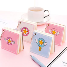 Cute Kawaii pink girl Notebook Cartoon Cute Lovely pink girl Diary Planner Memo Pad Notepad for Kids Gift Korean Stationery(China)