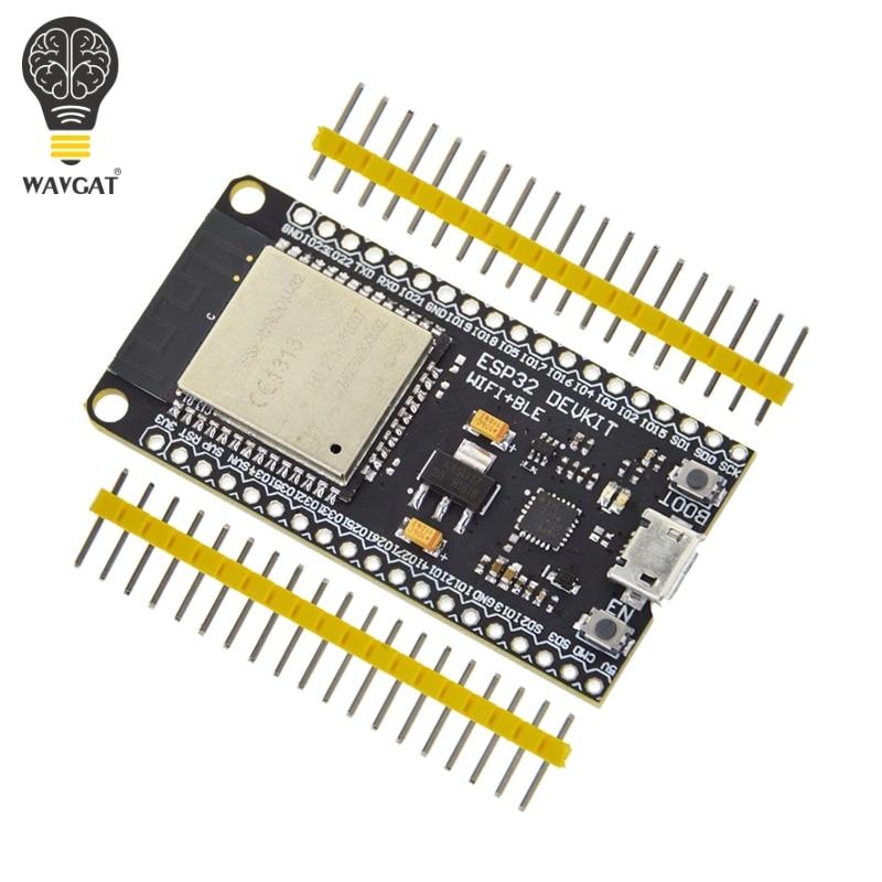 WAVGAT ESP32 Development Board WiFi+Bluetooth Ultra-Low Power Consumption Dual Core ESP-32 ESP-32S ESP 32 Similar ESP8266