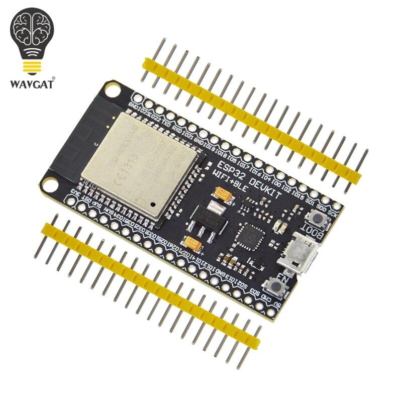 WAVGAT ESP32 Placa de desarrollo, WiFi + Bluetooth Ultra-bajo consumo de energía Dual Core ESP-32 ESP-32S ESP 32 similares ESP8266
