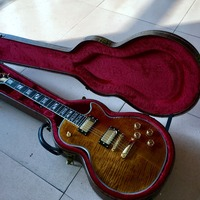 New arrival G custom shop 1959 R9 Tiger Flame supreme Electric guitar,double tiger flame top guitar Real photo shows