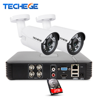 Techege 4CH CCTV System 2 0MP 4channel AHD H 1080P DVR 2 0 MP IR Outdoor
