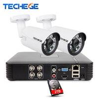 Techege 4CH CCTV System 2 0MP 4channel AHD H 1080P DVR 2 0 MP IR Outdoor