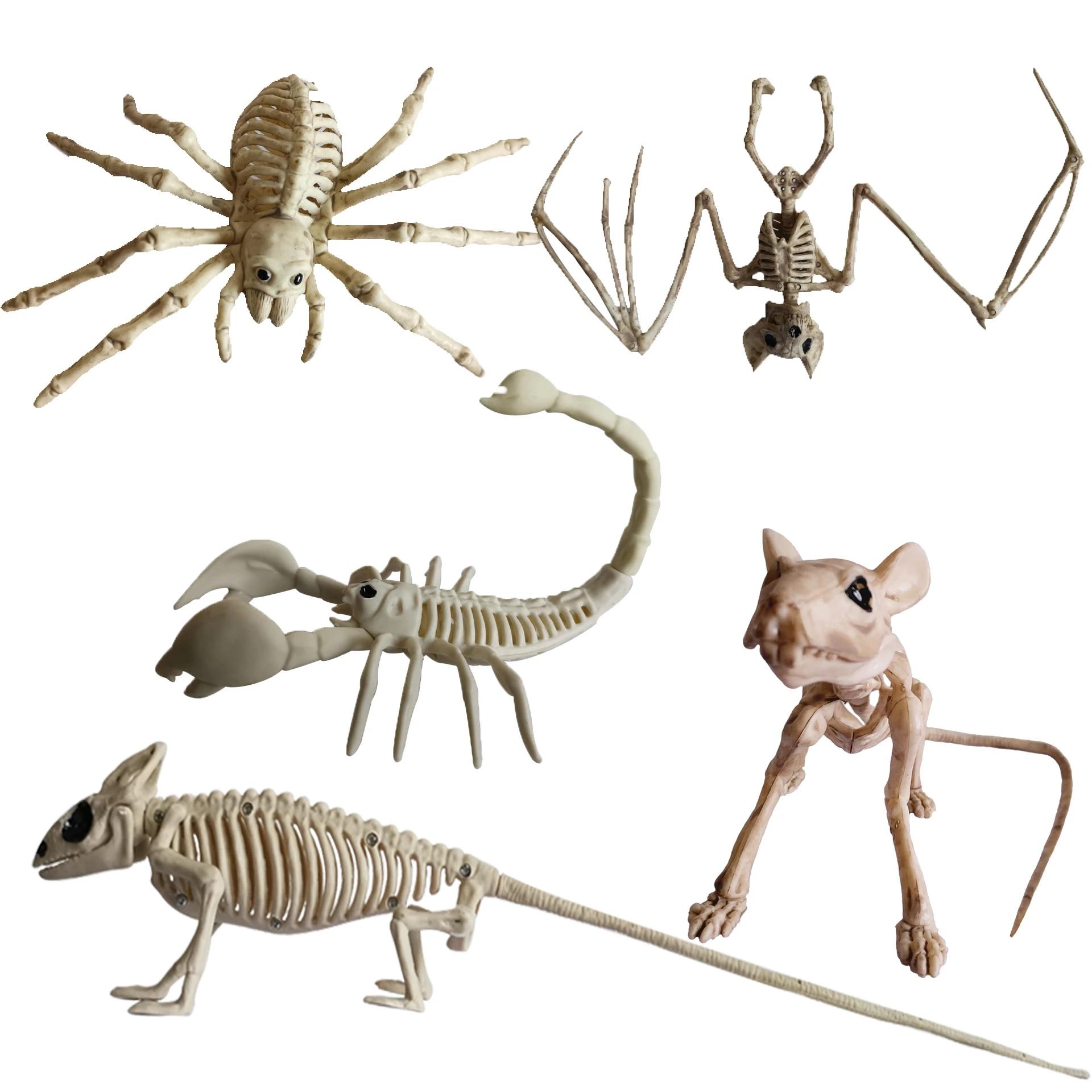Halloween Bat//Mouse//Spider//Lizard//Scorpion Animal Bones Prop Party Shop Ornament