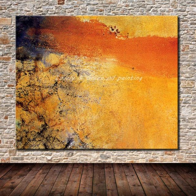 100% Hand Painted Modern Abstract Canvas Oil Painting Wall Art ...