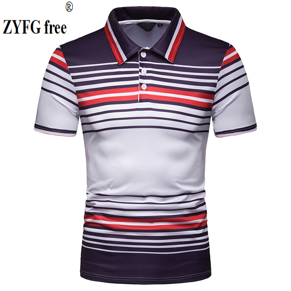 ZYFG FREE brand clothing men's   POLO   shirts casual tops stripes hit color   Polo   shirt summer slim hot pop men's clothing